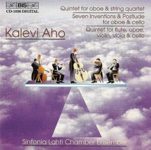 Aho: Quintet for Oboe and String Quartet, etc. Product Image