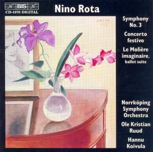Rota: Symphony No. 3, Concerto festivo & Le Molière imaginaire