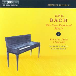 C P E Bach - Solo Keyboard Music Volume 7 Product Image
