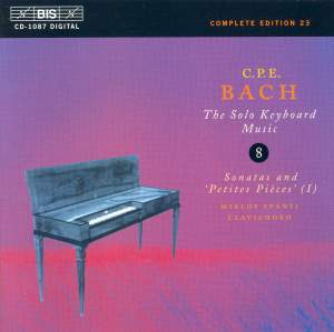 C P E Bach - Solo Keyboard Music Volume 8 Product Image