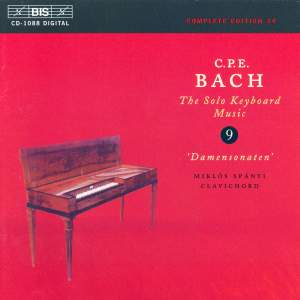 C P E Bach - Solo Keyboard Music Volume 9 Product Image
