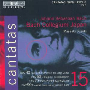 Bach - Cantatas Volume 15 Product Image