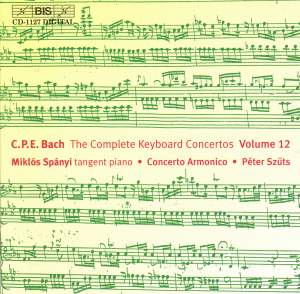 C P E Bach - Complete Keyboard Concertos, Volume 12 Product Image