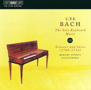 C P E Bach - Solo Keyboard Music Volume 10 Product Image
