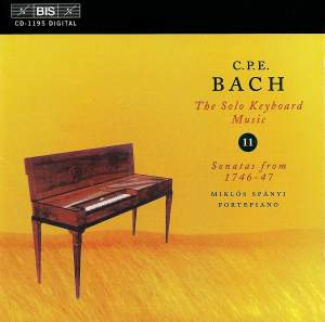 C P E Bach - Solo Keyboard Music Volume 11 Product Image