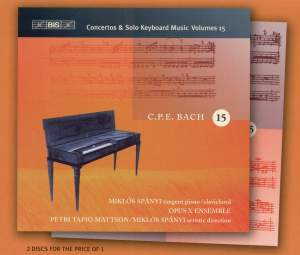 C P E Bach - Solo and Concerto Keyboard Music Volume 15 Product Image