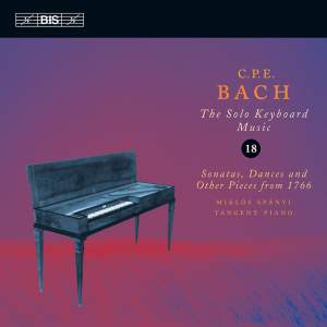 C P E Bach - Solo Keyboard Music Volume 18 Product Image