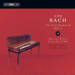 C P E Bach - Solo Keyboard Music Volume 19 Product Image