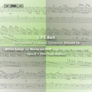 C P E Bach - Complete Keyboard Concertos, Volume 16 Product Image