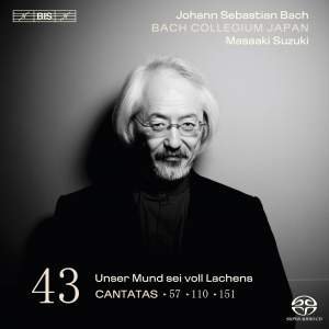 BACH, J.S.: Cantatas, Vol. 43 (Suzuki) - BWV 57, 110, 151