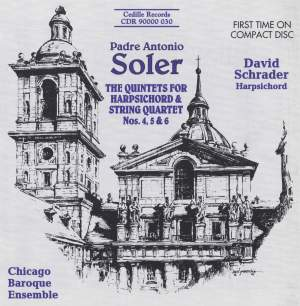 Soler: The Quintets for Harpsichord and String Quartet Nos. 4, 5 and 6 Product Image
