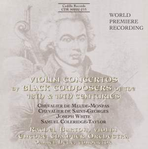 Violin Concertos by Black Composers of the 18th & 19th Centuries Product Image