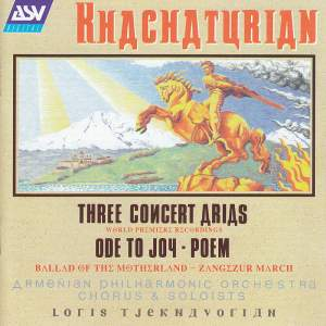 Khachaturian: Three Concert Arias