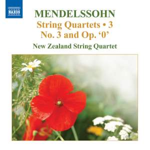 Mendelssohn - String Quartets Volume 3 Product Image