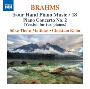 Brahms: Four Hand Piano Music, Volume 18