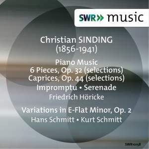 Sinding: Piano Music