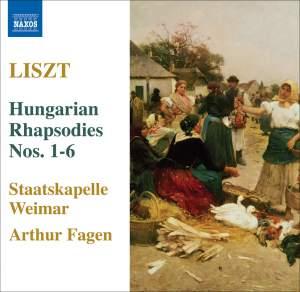 Liszt - Hungarian Rhapsodies Nos. 1 - 6 Product Image