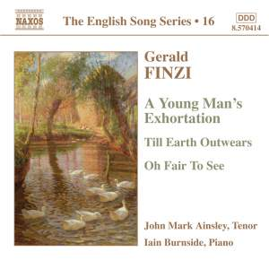 The English Song Series Volume 16 - Finzi Tenor Songs