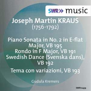 Kraus: Keyboard Sonata in E-Flat Major & 3 Variation Pieces