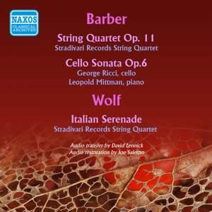 Barber: String Quartet & Cello Sonata