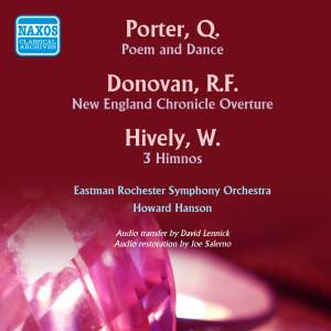 Porter, Donovan & Hively: Orchestral Music