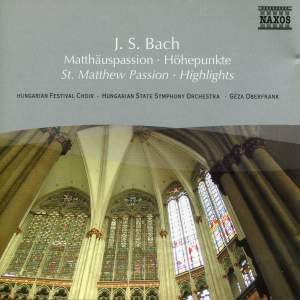 Bach, J S: St Matthew Passion (highlights) Product Image