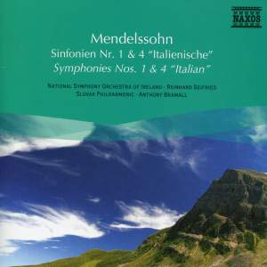 Mendelssohn: Symphonies Nos. 1 and 4 Product Image