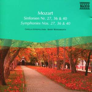 Mozart: Symphonies Nos. 27, 36 and 40 Product Image