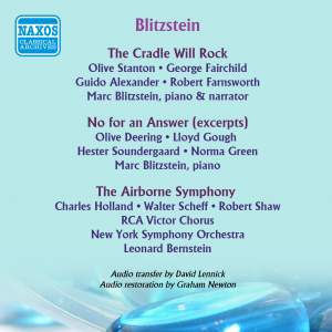 Blitzstein: The Cradle Will Rock - No for an Answer - Symphony, 'The Airborne' (1938-1947)