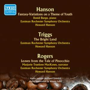 Orchestral Works by Howard Hanson, Harold Triggs and Bernard Rogers