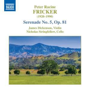 Fricker: Serenade No. 5, Op. 81