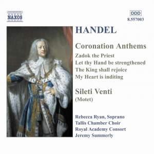 Handel - Coronation Anthems Product Image