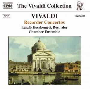 Vivaldi - Recorder Concertos Product Image