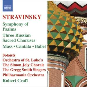 Stravinsky: Symphony of Psalms, Three Russian Sacred Choruses & other choral works Product Image