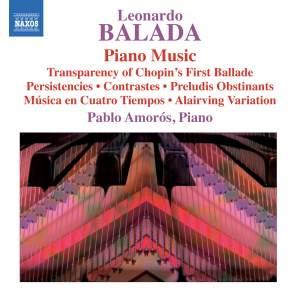 Leonardo Balada: Piano Music