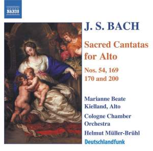J S Bach - Sacred Cantatas for Alto Product Image
