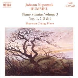 Hummel: Piano Sonatas, Vol. 3 - Nos. 1, 7, 8 & 9