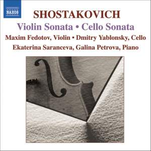 Shostakovich: Cello Sonata, Violin Sonata, Romance from 'The Gadfly' Product Image