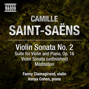 Saint-Saëns: Music for Violin and Piano, Vol. 2 Product Image