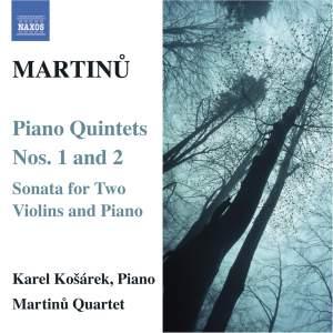 Martinu - Piano Quintets Nos. 1 & 2 Product Image