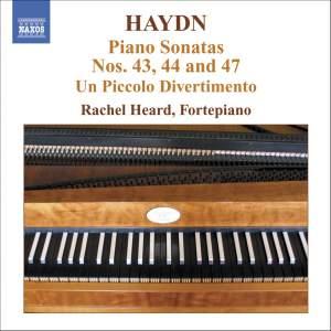 Haydn: Piano Sonatas Nos. 43, 44 & 47 Product Image
