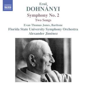 DOHNÁNYI, E.: Symphony No. 2 / 3 Songs, Op. 22: Nos. 1-2 (E.T. Jones, Florida State University Symphony, Jiménez)