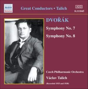 Václav Talich conducts Dvorak's Symphonies Nos. 7 & 8 Product Image