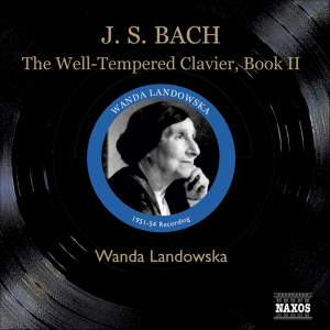 Bach, J S: The Well-Tempered Clavier, Book 2 Product Image