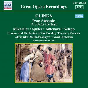 Glinka: Ivan Susanin (A Life for the Tsar) Product Image