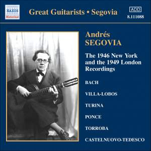 Great Guitarists - Andrés Segovia Product Image