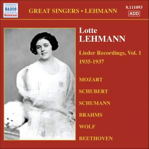 Great Singers - Lotte Lehmann