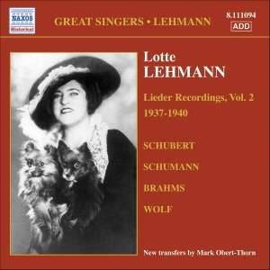 Great Singers - Lotte Lehmann Product Image