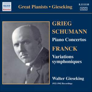 Great Pianists - Walter Gieseking Product Image