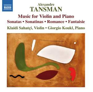 Tansman: Music for Violin and Piano